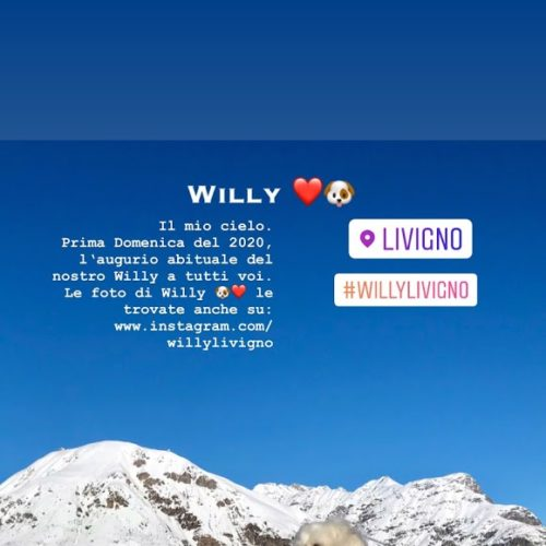 Willy ♥ dominates the panorama of Livigno